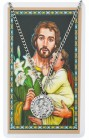 Round St. Joseph Medal with Prayer Card