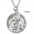 "Round St. Jude Dime Size Medal + 18"" Chain"
