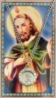 Round St. Jude Medal with Prayer Card