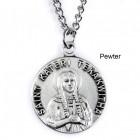 "Round St. Kateri Tekakwitha Dime Size Medal + 18"" Chain"