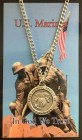 Round St. Michael Marines Medal with Prayer Card