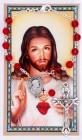 Sacred Heart Auto Rosary with Prayer Card