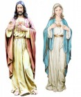 Sacred Heart & Immaculate Heart Statue Set 37""