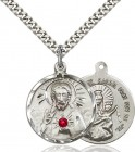 Sacred Heart and Our Lady of Mount Carmel Pendant