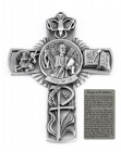 Saint Andrew Wall Cross in Pewter 5 Inches
