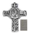 Saint Anne Wall Cross in Pewter 5 Inches