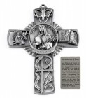 Saint Catherine of Siena Wall Cross in Pewter 5 Inches