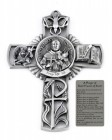 Saint Francis of Assisi Wall Cross in Pewter 5 Inches