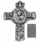 Saint Gregory Wall Cross in Pewter 5 Inches
