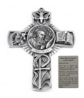 Saint John the Apostle Wall Cross in Pewter 5 Inches