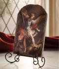 """Saint Michael Tile Plaque 8.5"""" High"""