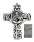 Saint Paul Wall Cross in Pewter 5 Inches