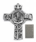 Saint Peter Wall Cross in Pewter 5 Inches