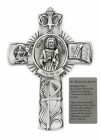 Saint Thomas the Apostle Wall Cross in Pewter 5 Inches