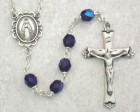September Birthstone Rosary (Sapphire) - Sterling Silver