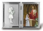 Girls Silver Plated First Communion Photo Frame