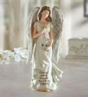 Somber Memorial Angel Figurine 8 Inch High
