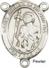 St. Adrian of Nicomedia Rosary Centerpiece Sterling Silver or Pewter