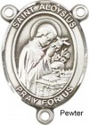 St. Aloysius Gonzaga Rosary Centerpiece Sterling Silver or Pewter