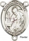 St. Alphonsus Rosary Centerpiece Sterling Silver or Pewter