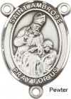 St. Ambrose Rosary Centerpiece Sterling Silver or Pewter