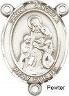 St. Angela Merci Rosary Centerpiece Sterling Silver or Pewter