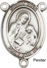 St. Ann Rosary Centerpiece Sterling Silver or Pewter