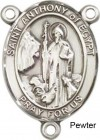 St. Anthony of Egypt Rosary Centerpiece Sterling Silver or Pewter