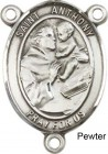 St. Anthony of Padua Rosary Centerpiece Sterling Silver or Pewter