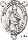 St. Augustine of Hippo Rosary Centerpiece Sterling Silver or Pewter