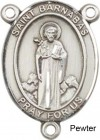 St. Barnabas Rosary Centerpiece Sterling Silver or Pewter