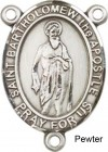 St. Bartholomew the Apostle Rosary Centerpiece Sterling Silver or Pewter