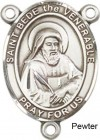 St. Bede the Venerable Rosary Centerpiece Sterling Silver or Pewter