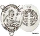 St. Benedict Rosary Centerpiece Sterling Silver or Pewter