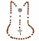 St. Benedict Rosary Light Brown 6mm