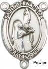 St. Bernadette Rosary Centerpiece Sterling Silver or Pewter