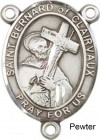 St. Bernard of Clairvaux Rosary Centerpiece Sterling Silver or Pewter