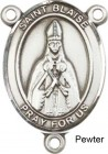 St. Blaise Rosary Centerpiece Sterling Silver or Pewter