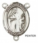 St. Brendan the Navigator PLAIN BACK Rosary centerpiece