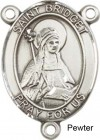 St. Bridget of Sweden Rosary Centerpiece Sterling Silver or Pewter