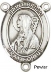 St. Brigid of Ireland Rosary Centerpiece Sterling Silver or Pewter