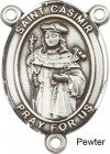 St. Casimir of Poland Rosary Centerpiece Sterling Silver or Pewter