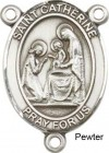 St. Catherine of Siena Rosary Centerpiece Sterling Silver or Pewter