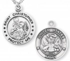 St. Christopher Army Medal Sterling Silver
