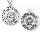 St. Christopher Coast Guard Medal Sterling Silver