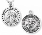 St. Christopher Marine Medal Sterling Silver