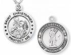 St. Christopher National Guard Medal Sterling Silver