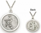St. Christopher Off Road Bike Sports Medal with Chain