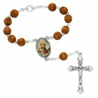 St. Christopher Wood-Carved Auto Rosary