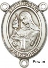 St. Clare of Assisi Rosary Centerpiece Sterling Silver or Pewter